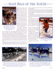 Sirius, Newsletter of The American Kennel Club Museum of the Dog, Winter 2009.