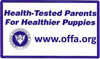 Health-Tested Parents for Healthier Puppies. offa.org logo
