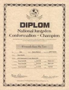 Tazz Conformation CH Certificate